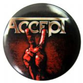 Accept - 'Blood of the Nations' Button Badge